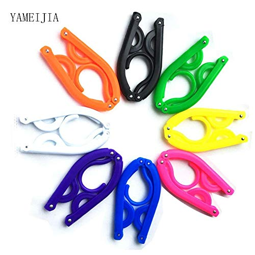 Folding Hanger,Portable Folding Clothes Hanger, Lightweight,Extra-Large Load-Bearing, Foldable,Non-Slip, Travel,Home,Gift Pack Of 8 (Random Color)