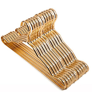 FORWIN- Hanger Aluminum Alloy Hanger Anti-skid Clothes Rack 10 Packs hanger (Color : Gold)