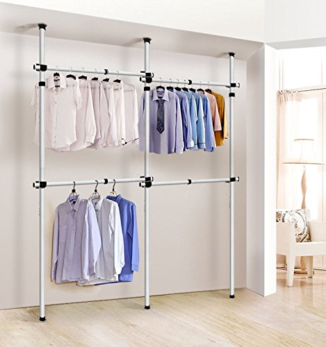 Generic me Clos US hes Hangers Garment Rack rs She Adjustable Home Closet hes Han Organizers Clothes Home Close Hangers Shelves stable