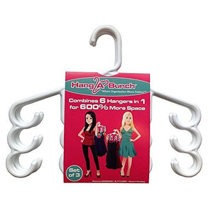 Hang A Bunch Set of 3 Multi Purpose Hangers, White