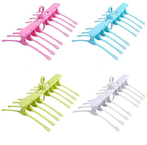 GOFUN Gofunshop Magic Multi-function Foldable Clothes Hanger with 360-degree Swivel Non-Slip functions?1 pack (White)