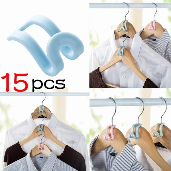 15Pcs Creative Mini Flocking Clothes Hanger Home Easy Hook Closet Organizer