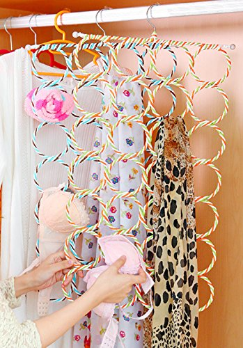 Multifunction Circle Scarves Rack Underwear Multi-belt Holder Metal Slip Hanger