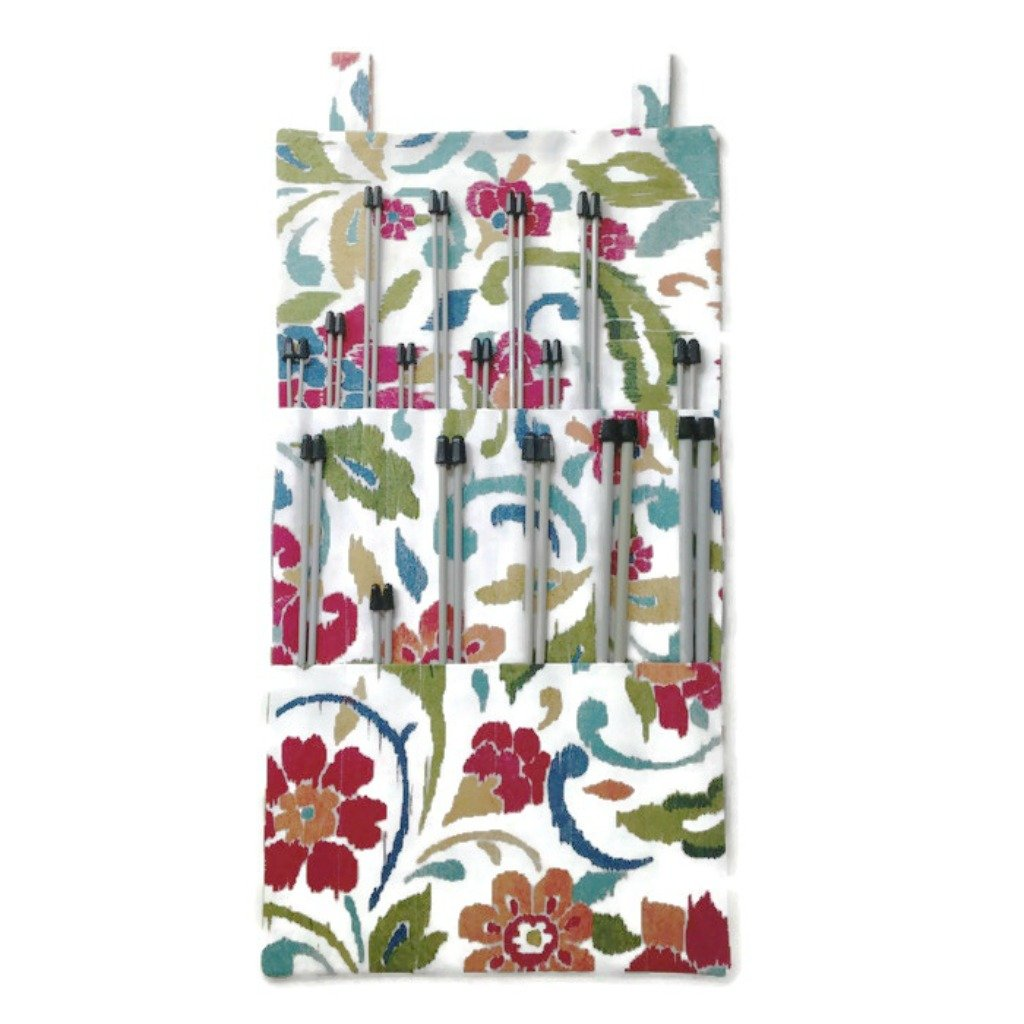 Hanging Organizer Straight Needles 10 and/or 14-Inch Floral