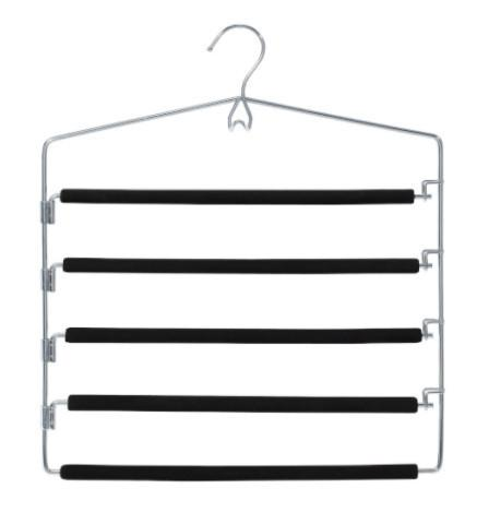 Closet Spice Chrome 5 Tier Pant Hanger - Set of 2 (Black)