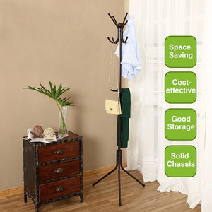 12 Hook Metal Rotating Clothes Hanger Stand