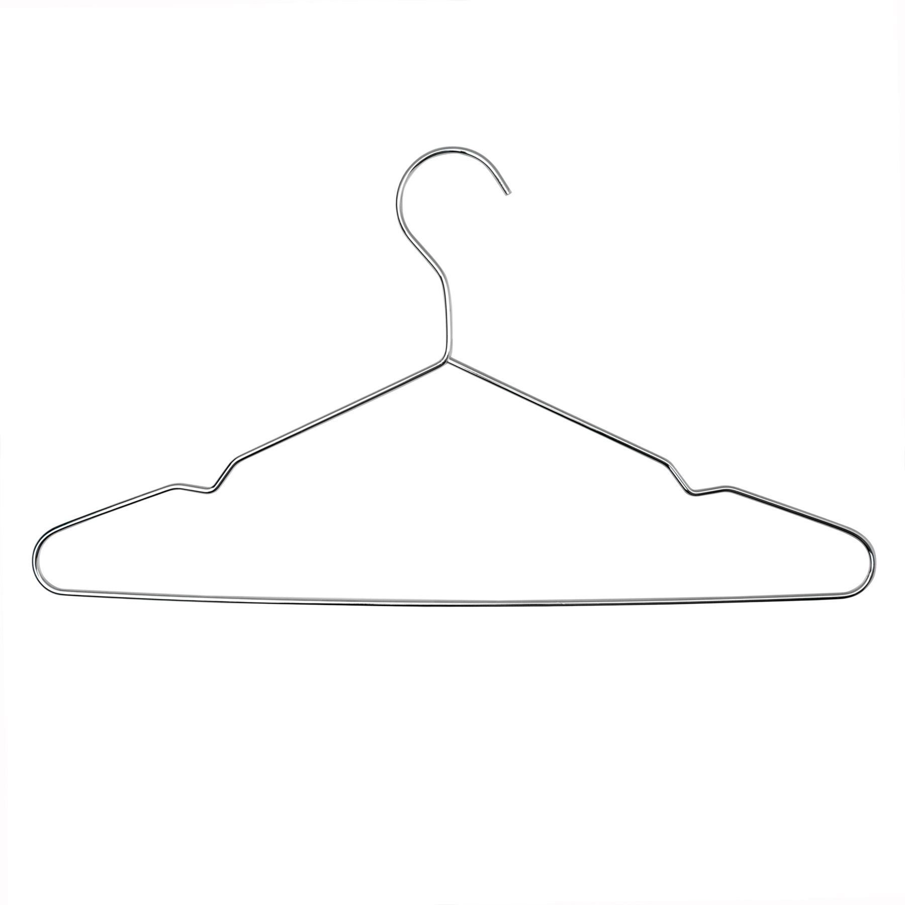 Harbour Housewares Metal Wire Clothes Hanger - Chrome