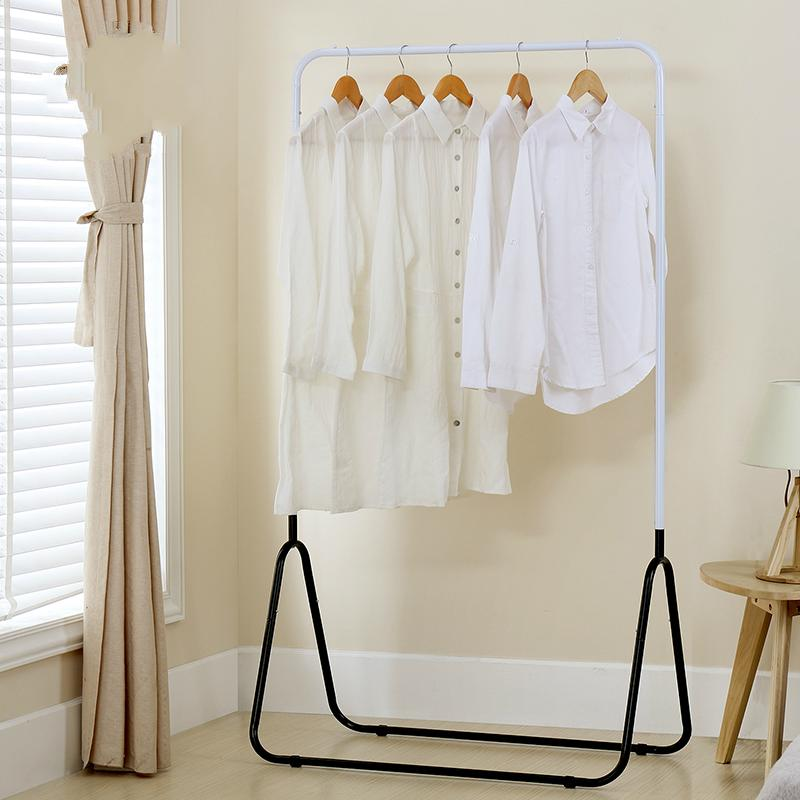 Simple clothes hanger and drying rack for shirts