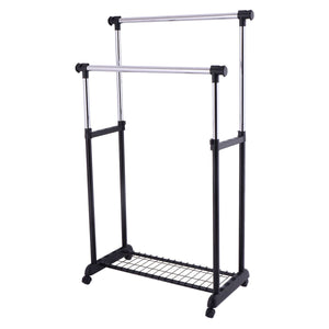 Double Adjustable Cloth Hanger Garment Rack