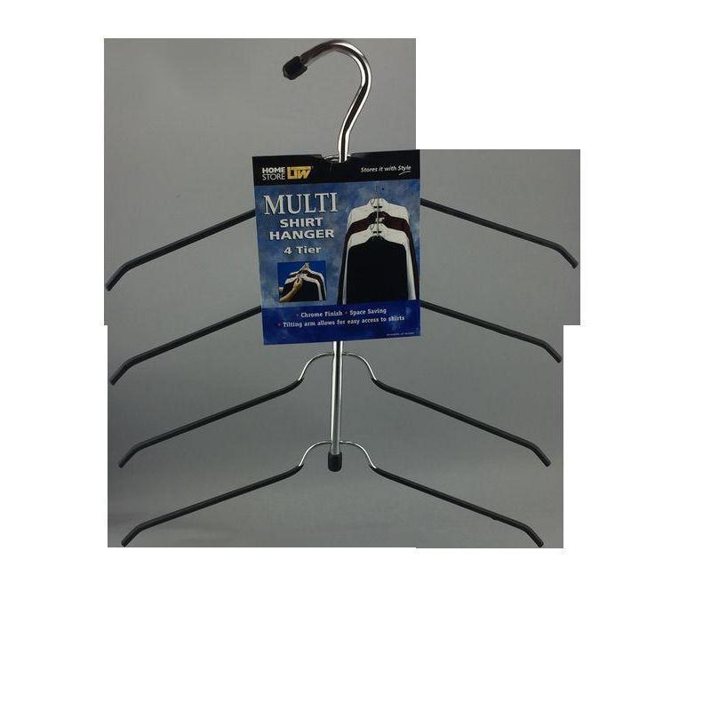 4 Tier Shirt Hanger Chrome