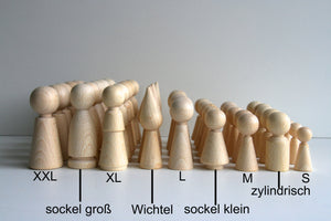 Holz Kegel / Kegelfigur / Figurenkegel 6 Set