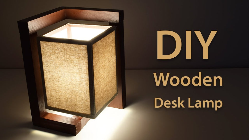 In this video I am going to show you how to make this gorgeous looking wooden desk lamp using simple hand tools