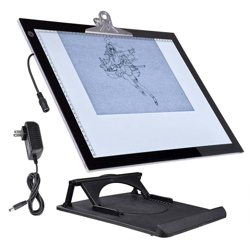 "A3 LED Tracing Light Box with Stand 19""x14"" LED Tracing Pad"
