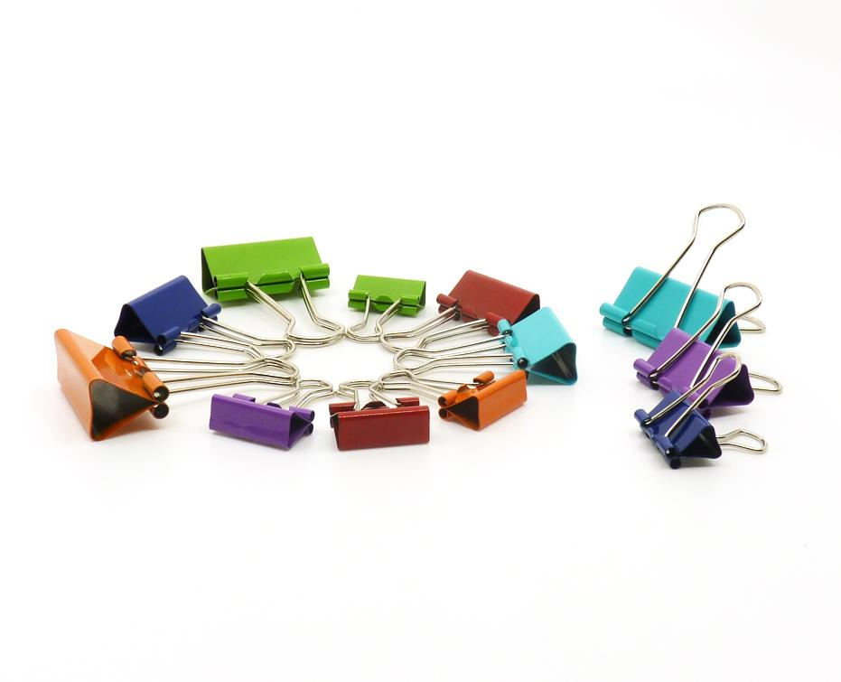 12ct Assorted Binder Clips