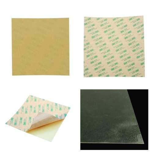 253.8*241*0.3mm Polyetherimide PEI Sheet With 3M Glue For Reprap Prusa i3 Mk3 Heated Bed 3D Printer Part
