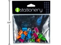 Binder clips 18 pc Assorted colours