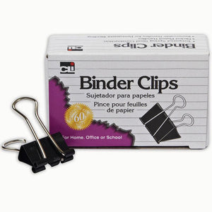 (12 BX) BINDER CLIPS 12 PER BX 1IN