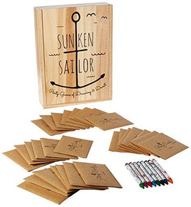 Buffalo Games Sunken Sailor Party Game of Drawing & Deceit