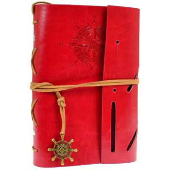 GoT House Greyjoy Compass Embossed Unlined Journal with Cord & Wheel Charm