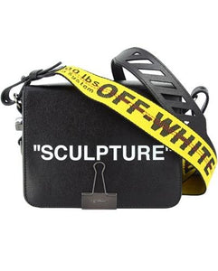 OFF WHITE SCULPTURE BINDER CLIP Black Shoulder bag
