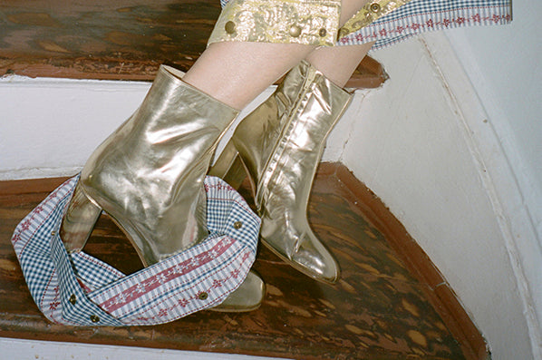 AGNES BOOT, GOLD