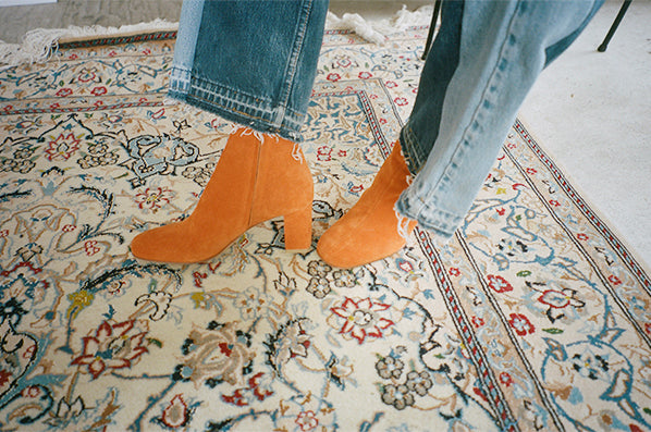 AGNES BOOT SUEDE, ORANGE SUEDE
