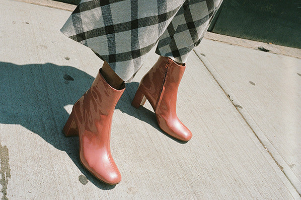 AGNES BOOT, SALMON SPARKLE