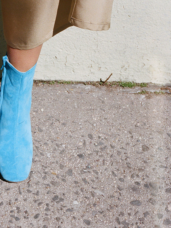 AGNES BOOT, TURQUOISE SUEDE
