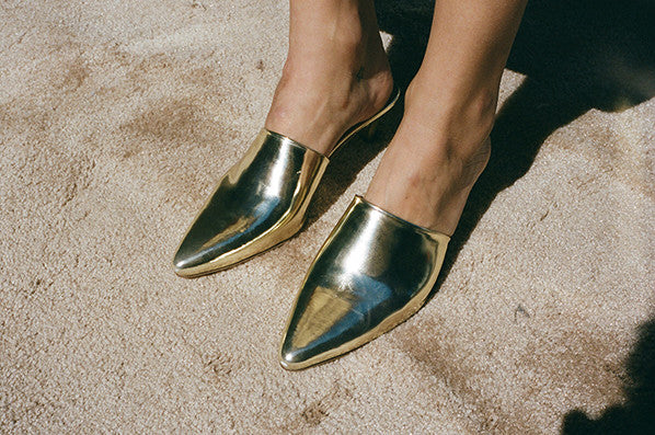 ANDREA MULE, GOLD METALLIC