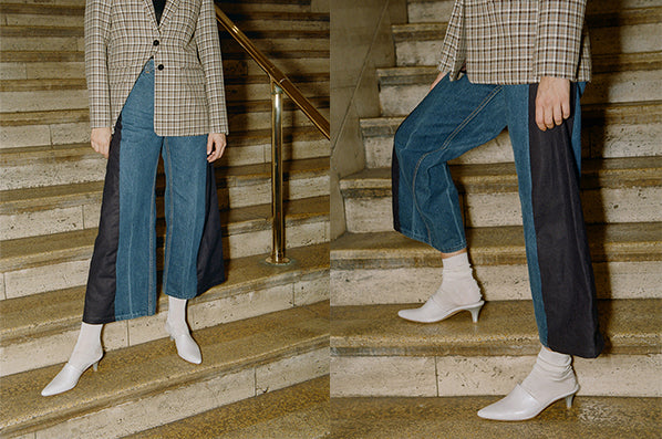 AXIS TROUSERS, REWORKED DENIM