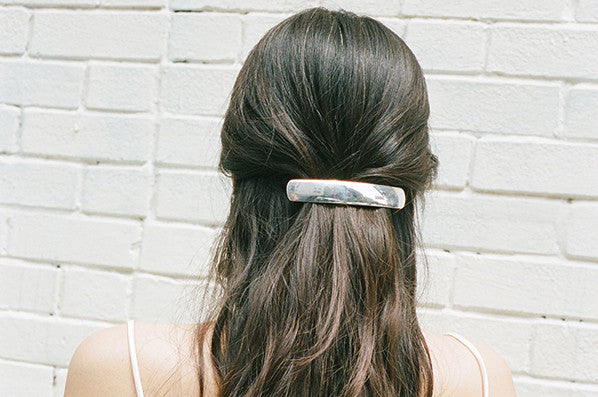 SILVER BARRETTE LARGE, STERLING SILVER
