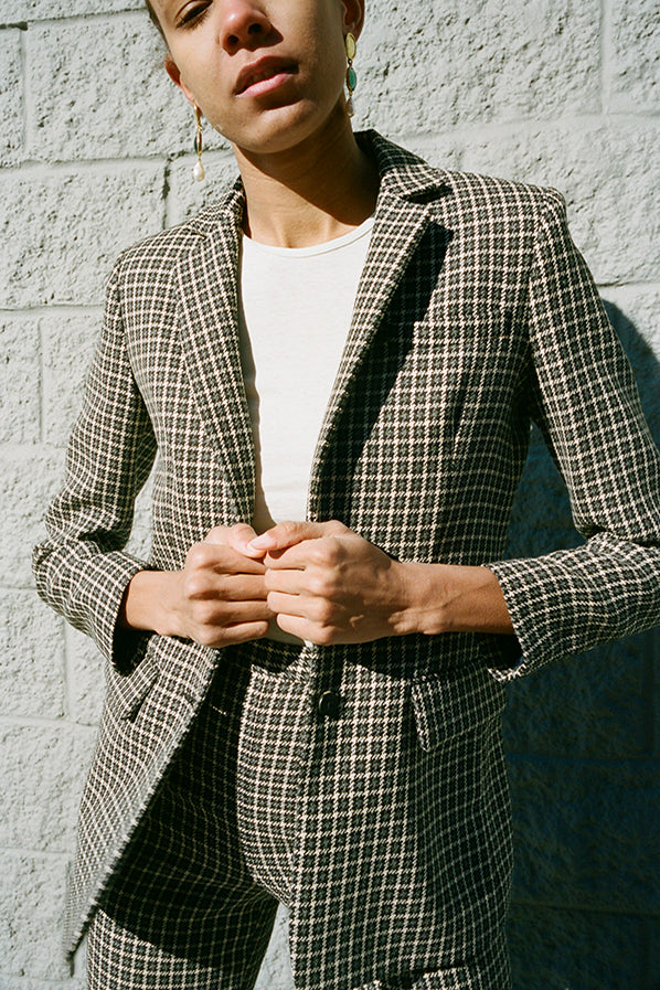 MERCURY BLAZER, BLACK PLAID