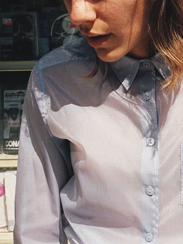ANA BUTTON UP, PERIWINKLE