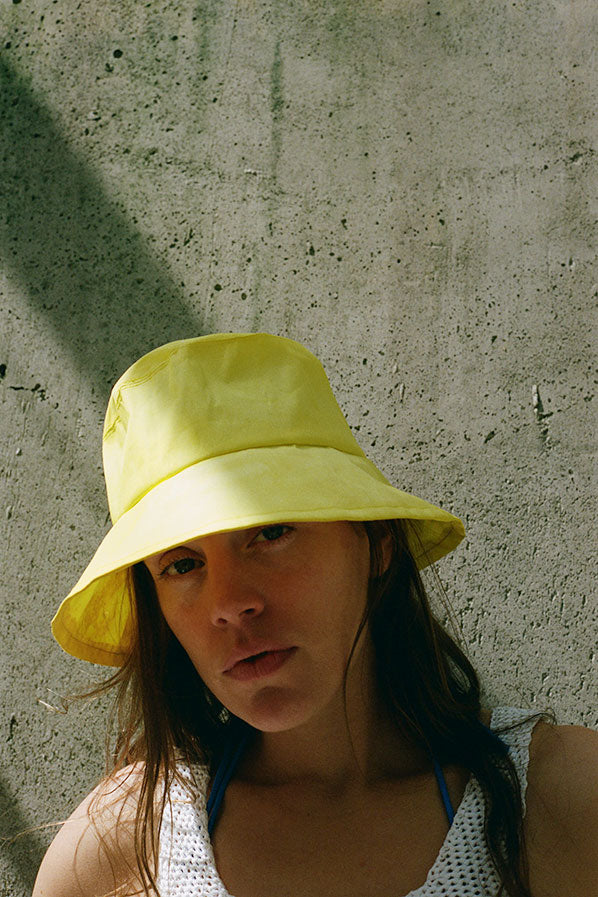 NYLON HAT, YELLOW