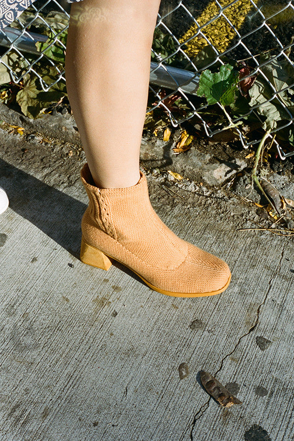 TOGETHER KNIT BOOT, CAMEL