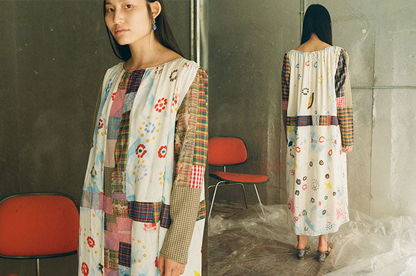 COLORFUL PATCHWORK DRESS, MULTI