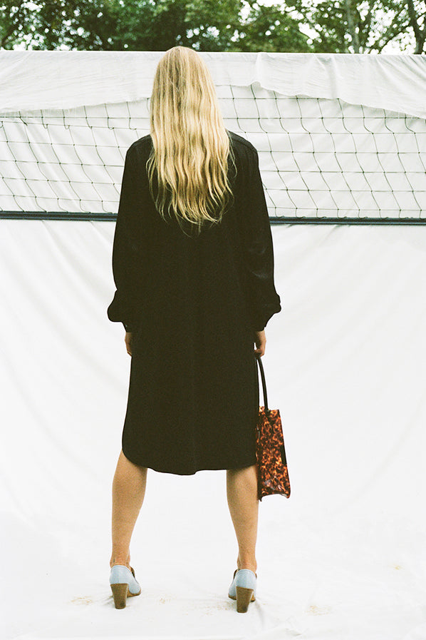 COPA SHIRT DRESS, BLACK