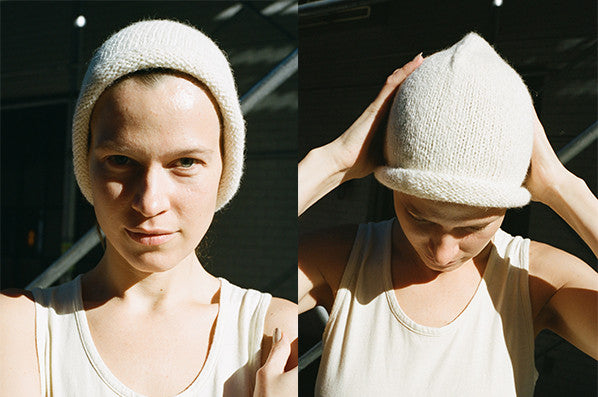 CROWN BEANIE, WHITE