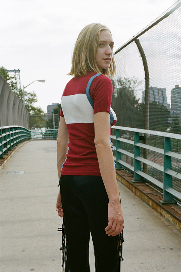 CYCLING TOP, MAROON
