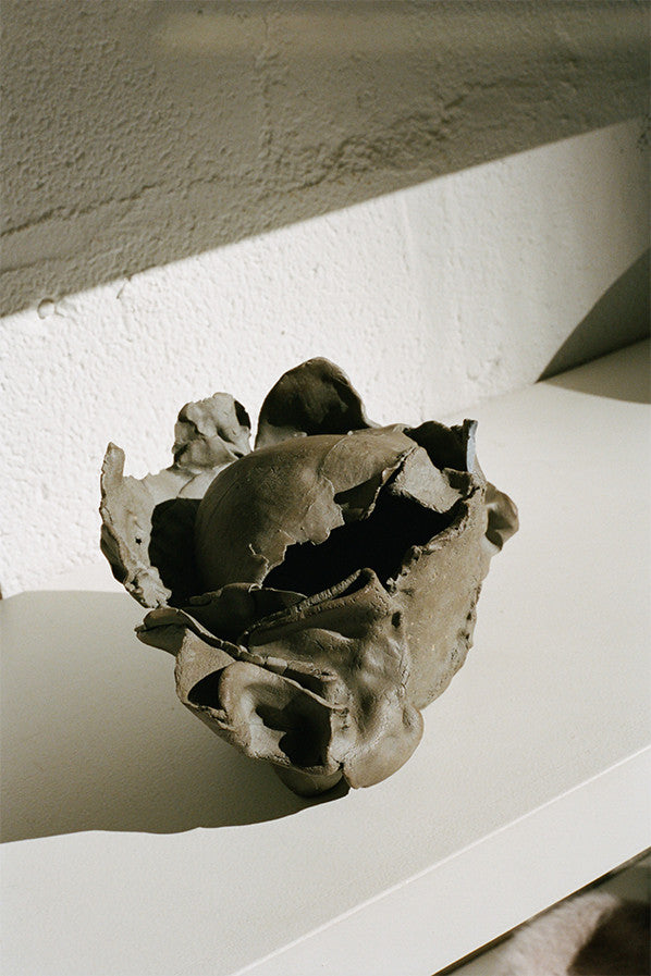 GRAPHITE SCULPTURAL VESSEL
