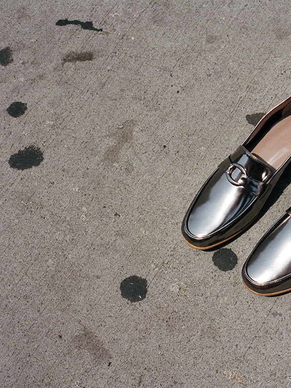 MANUELA LOAFER, GUNMETAL METALLIC