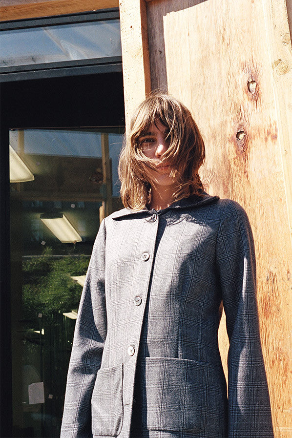 CLARA SUIT JACKET, GREY PLAID