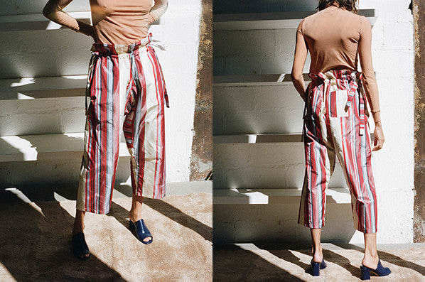UNISEX JUDO PANTS, RED STRIPE