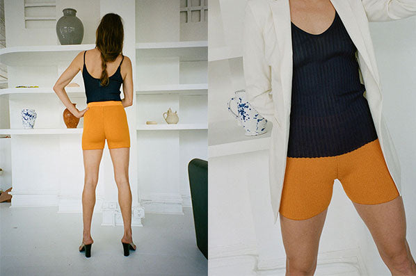 LE SHORT ARANCIA, ORANGE STRIPED