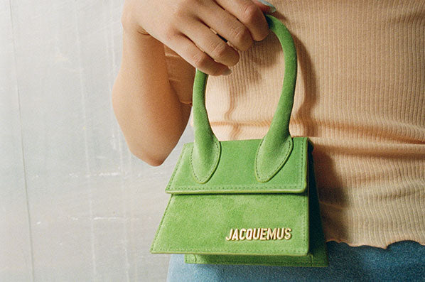 LE CHIQUITO PURSE, GREEN SUEDE