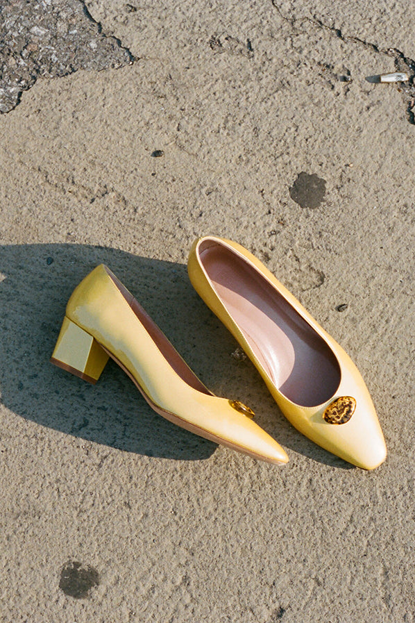 LEONORA PUMP, BANANA PATENT — ONLINE EXCLUSIVE