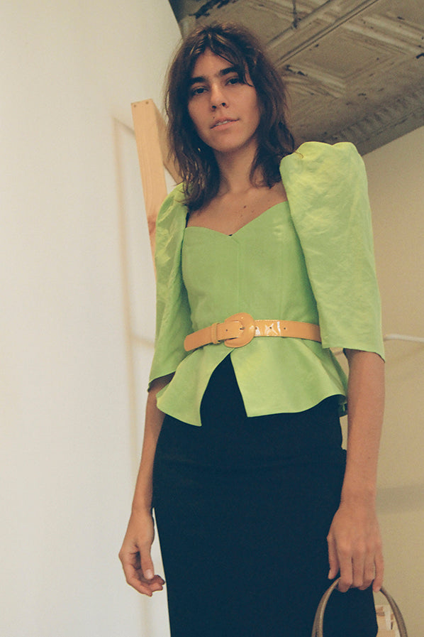 MARINA TOP, LIME