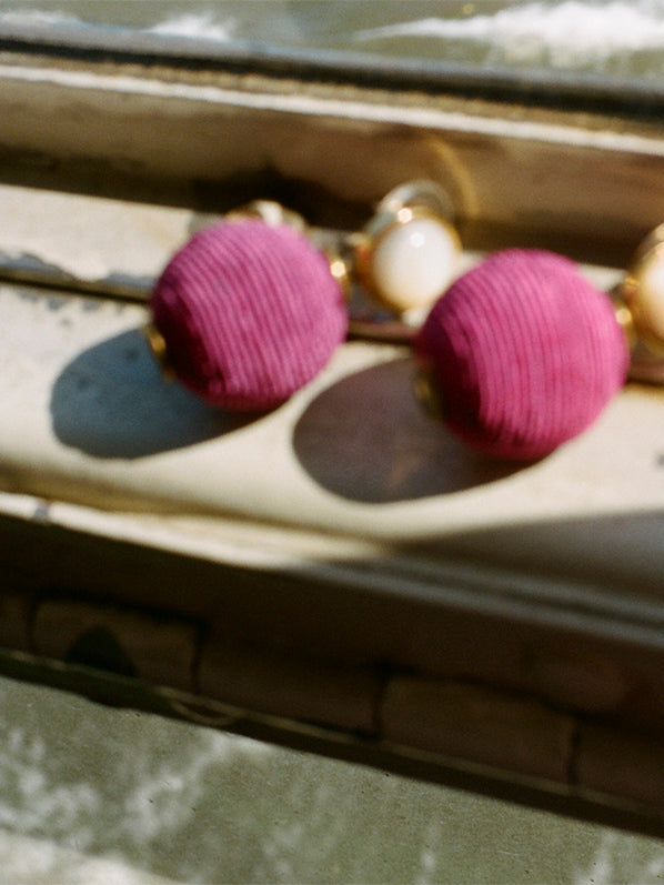 MARA EARRINGS, PINK
