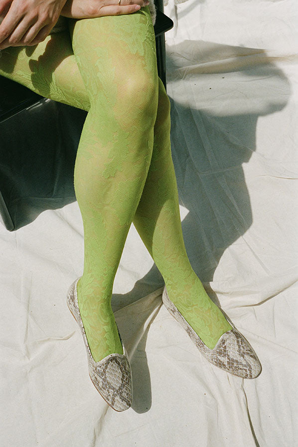 LACE TIGHTS, PISTACHIO