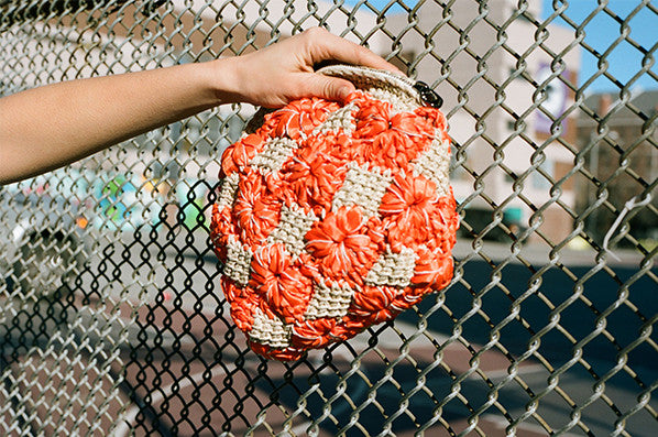 ISA CROCHET BAG, ORANGE